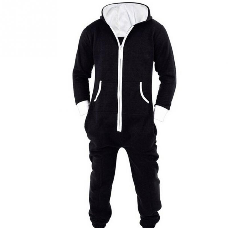 2ed06150bd9 Unisex Autumn Male Hip Hop Jumpsuit Pants Rompers Spring Men s Jumpsuit  Casual Long Sleeve hooded coat cotton Women pant-in Jumpsuits from Women s  Clothing ...