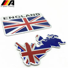 Aluminium Paduan Silver GB Inggris Inggris Bendera Union Jack Shield Emblem Lencana Decal Sticker untuk Lotus MG Chevrolet Ford Skoda VW Opel(China)