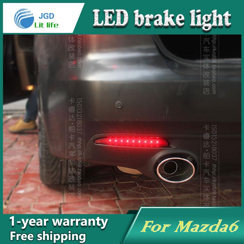Car Styling Rear Bumper LED Brake Lights Warning Lights case For Mazda 6 Mazda 8 mazda 3 Accessories Good Quality