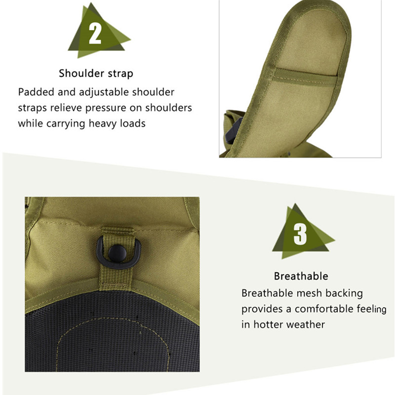 Outdoor Shoulder Military Backpack Climbing Bags Camping Travel Hiking Trekking Bag Cycle Bag 9 Colors26