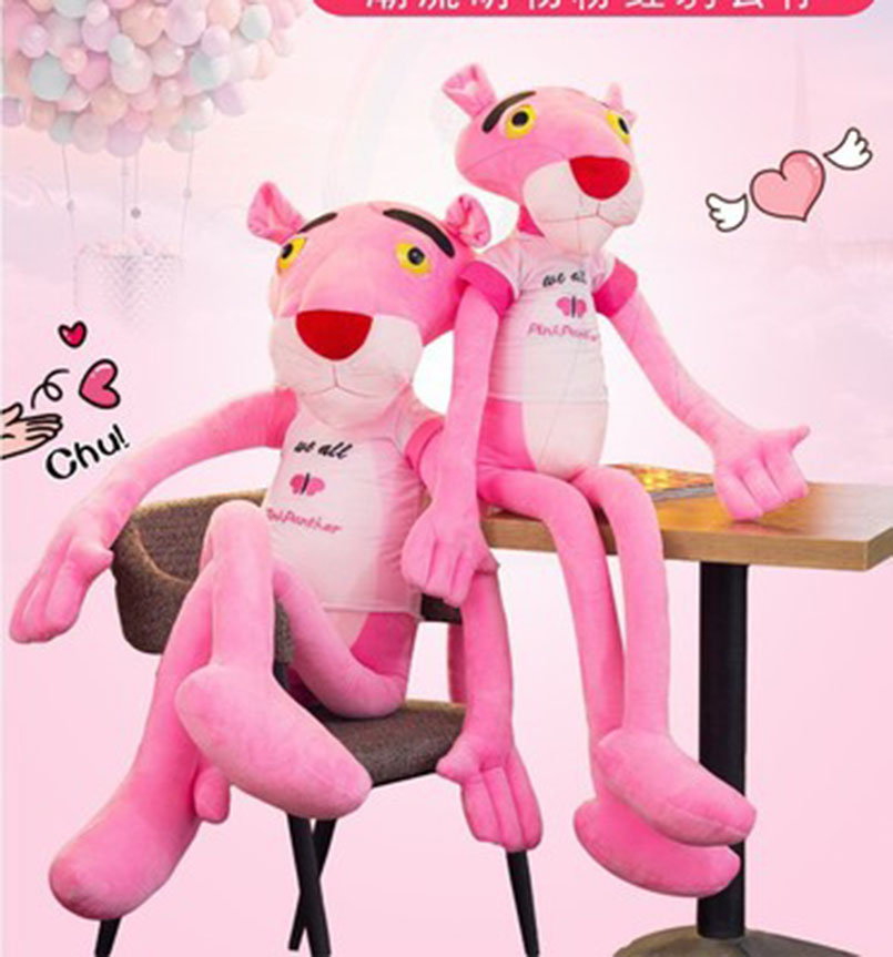 Apaffa Soft NICI Pink Panther Plush Toys Pink Panther Stuffed Plush Toy Original Doll Children Christmas Birthday Presents BF087