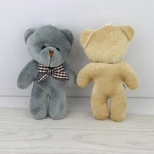 Hot sale 11cm Teddy bear plush stuffed toys small bears for cartoon bouquet packaging christmas Promotion Gifts 40pcs/lot