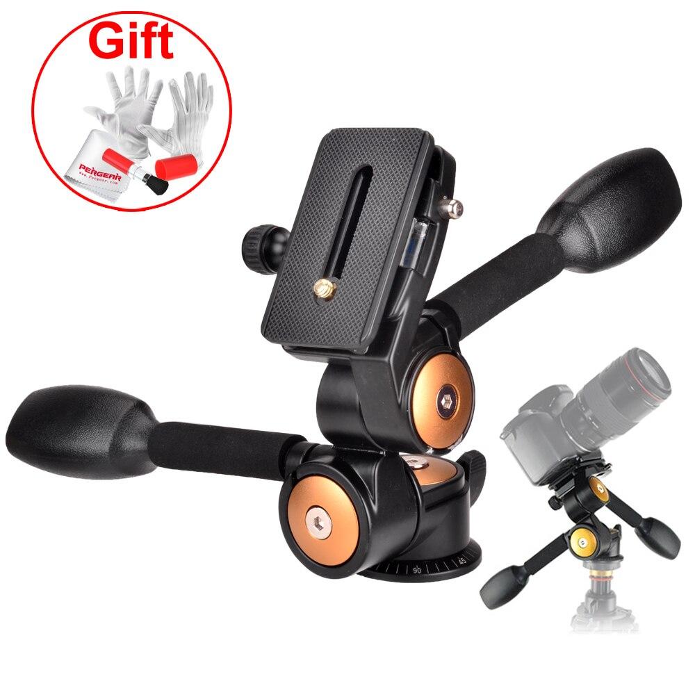 Load 20KG Camera Tripod Monopod Ball Head 3-way Panhead for DSLR Camera VCR and Telephoto Lens Tripod Monopod Head