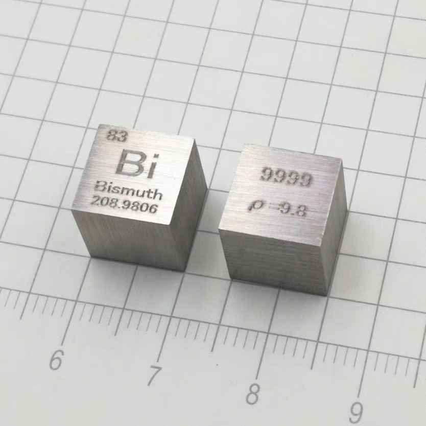 1 Pcs 99 99 9 73 Grams Bi Bismuth Metal Carved Element Periodic Table 10mm Cube