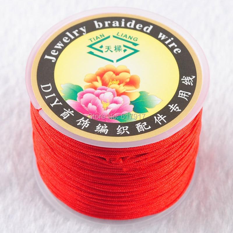 20m 0.5mm Clear  Stretchy Elastic line Necklaces Bracelets ED