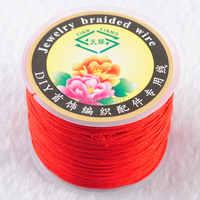 RONGZUAN Schmuck Zubehör 1mm Red Nylon Perlen Schnur Schnur Chinesischen Knoten Gewinde Draht Linie 45 Meter für Schmuck Machen TH3104