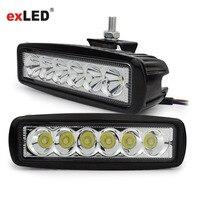 ExLED 2pcs 18W White 6500K 1800lm DRL LED Work Light Worklight 12 30V 12 30V
