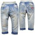 3754 высококлассные ДЕТЕЙ мальчик джинсы брюки синий твердые весна осень брюки детская ОДЕЖДА мягкий деним