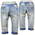 3754 de lujo NIÑOS baby boy jeans pantalones casual azul sólido pantalones del otoño del resorte niños ROPA de mezclilla suave