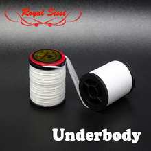 New Hot 1 spool white underbody stretch fly tying thread 2 optional sizes easy wrap salmon &steelhead pattern material