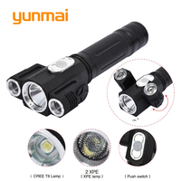 USA RU LED Flashlights Torch 5000 Lumen CREE XM T6 Zoom Led Torch Suitable 18650 Battery