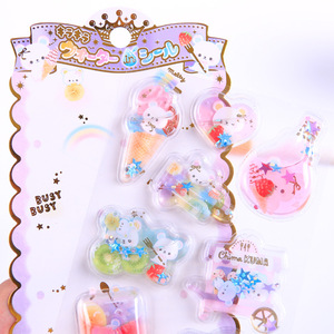 Image 2 - 12set Kawaii Stationery Stickers Crystal oil filling Diary Planner Decorative Mobile Stickers Scrapbooking DIY Craft Stickers