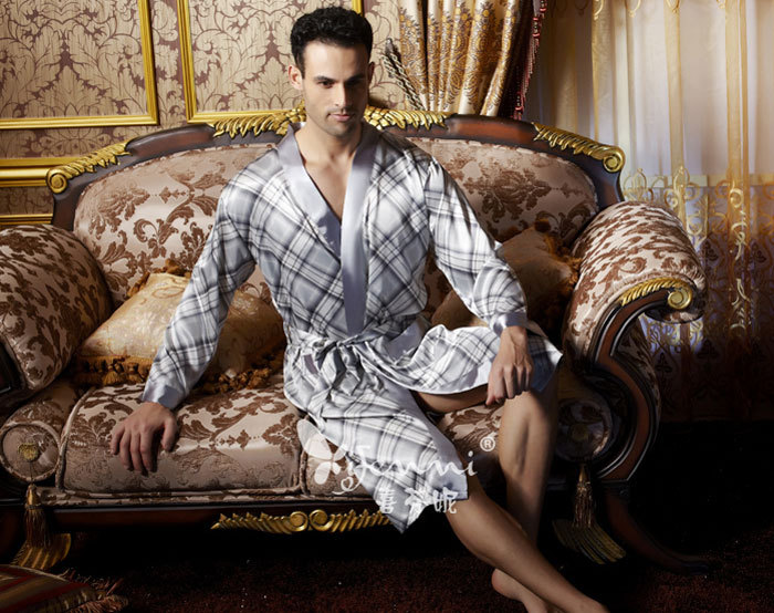 Autumn summer 2013 couple silk pyjamas home clothes men dressing ...