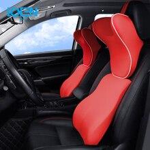 LOEN Car Lumbar Support Pillow and Car Headrest Neck Pillow Kit Car Memory Foam Health Care Lumbar Support Pillow Fit Major Cars