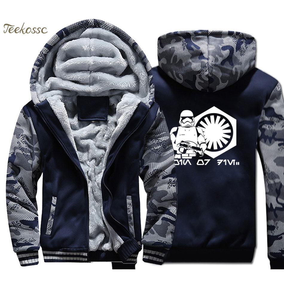 Star Wars Hoodie Men Yoda Darth Vader Hooded Sweatshirt Coat 2018 Winter Fleece Thick High Quality Movie Jacket Brand Streetwear