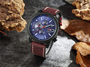 Image 3 - Brand New Fashion Quartz Mens Watch Chronograph Dial and Date Window Casual Business Wristwatch CURREN Leather Clock For Man