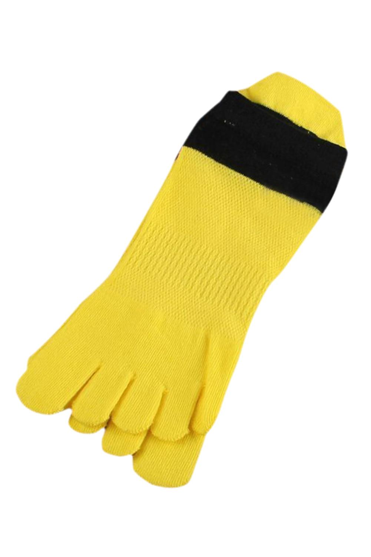 89a9bd9461399 SZ-LGFM-1Pair Confortável Respirável Dedo Do Pé Meias Meias de Algodão Do  Esporte dos homens Cinco Dedos Meias Amarelas