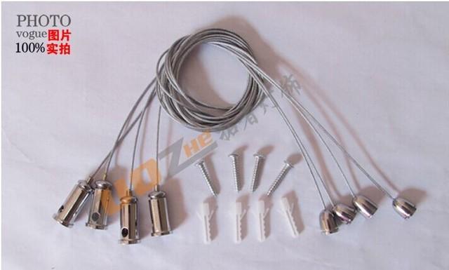 Fune lampadario luci di pannello accessori acciaio appeso filo