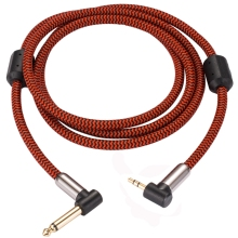 Angled MONO 1/4 6.35mm to 3.5mm Mini Jack 1/8 Audio Cable PC Headphone Mixing Console Audiophile TS 1M 2M 3M 5M 8M