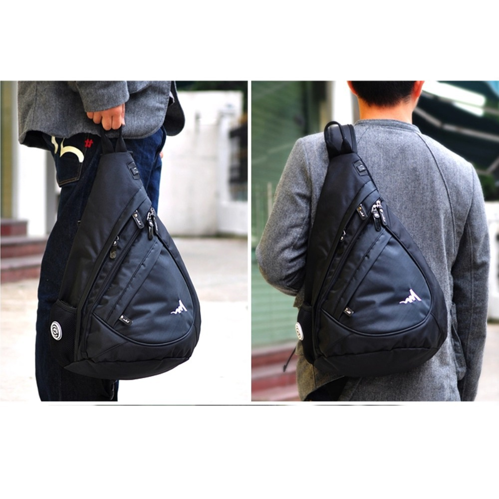Aliexpress.com : Buy Black Mens Backpack Chest Shoulder Bag ...