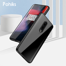 Pohiks Soft Phone Case For OnePlus 7 Pro 7 Shockproof Transparent 2In1 TPU+PC Phone Case Back Cover For Oneplus 7 7 pro Fundas [hk stock] soft case tpu transparent back cover for oneplus 3