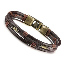 Tribal Leather Cord Wristband