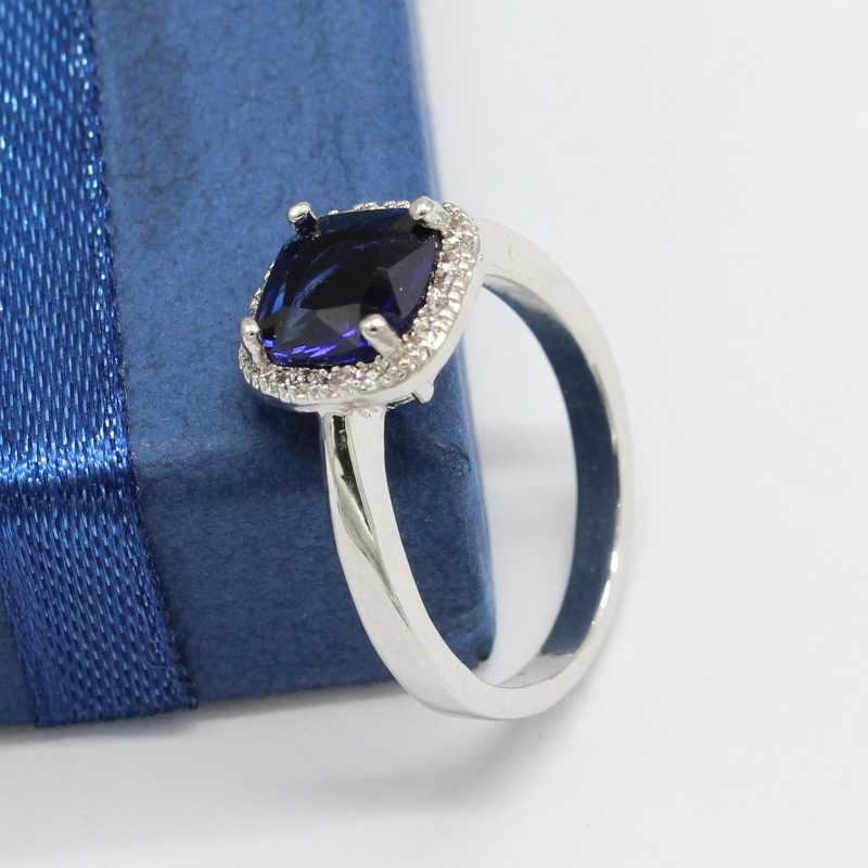 EIOLZJ carré noir pierre 925 en argent Sterling anneaux pour les femmes anniversaire trois couleurs disponibles livraison directe de boîte à bijoux gratuite