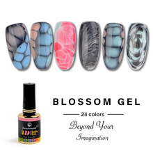 Fengshangmei 12ml blooming gel de unhas inovador diy tartaruga gel polonês uv led flor gel vernizes