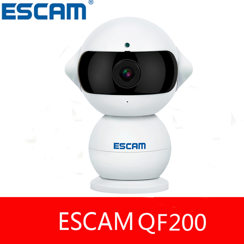 ФОТО ESCAM Elf QF200 WIFI IP baby Camera HD 960P Infrared Night Vision 360Degrees Rotation Wireless Security Alarm thanYI Dome Camera