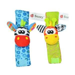 Image 5 - Sozzy noworodka pluszowe skarpety zabawka dla dziecka skarpetki zwierząt kreskówka grzechotki dla dzieci