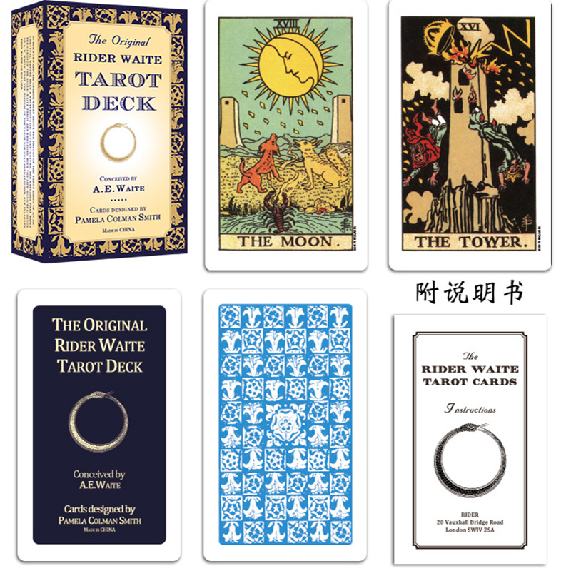 Rider Waite Tarot Deck Board Game Cards Game Full English Edition Tarot Board Game For Family/Friends