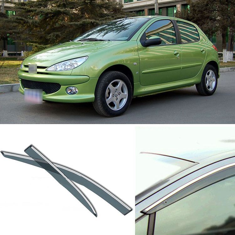 4pcs Blade Side Windows Deflectors Door Sun Visor Shield For Peugeot 206 2004-2010 4pcs blade side windows deflectors door sun visor shield for toyota verso ez 2011 2014