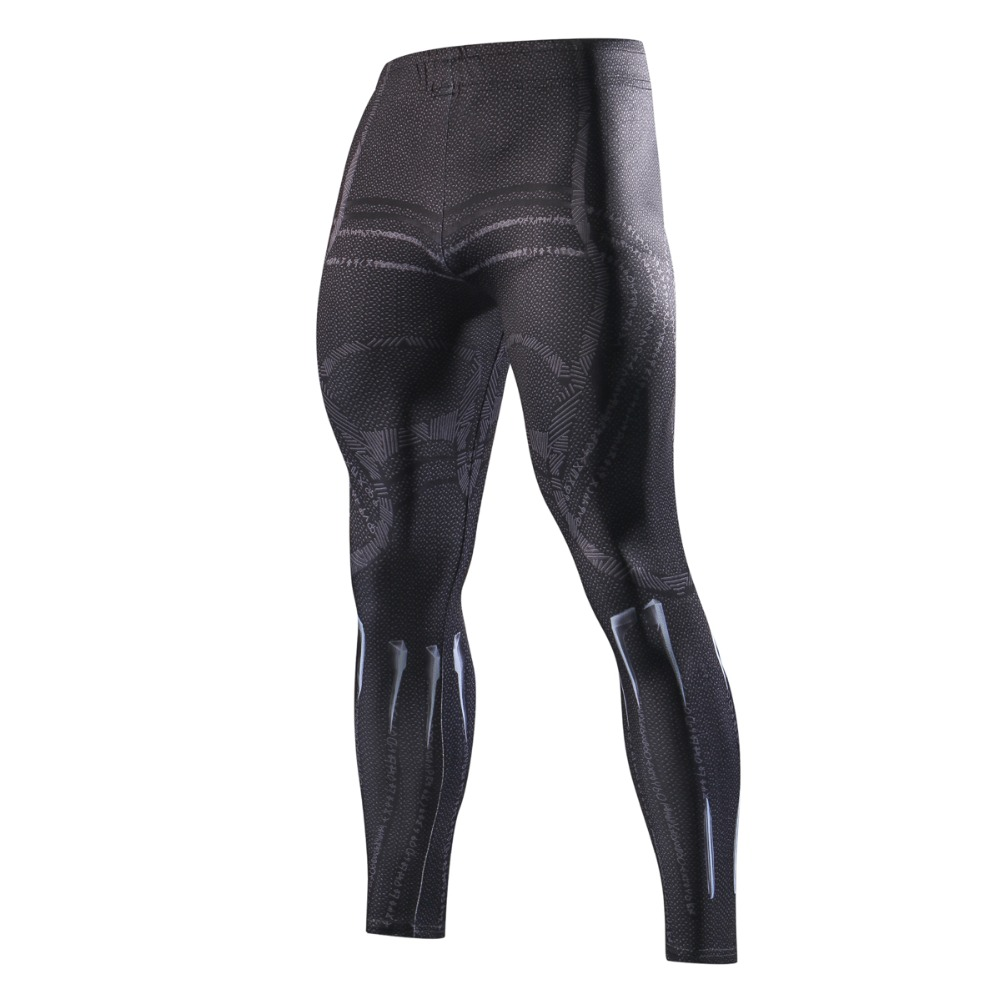 Black Panther 3D Printed Leggings Men Pattern Compression Tights Pants 2018 New Skinny Sweatpants Fitness Trousers Male