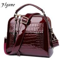 Flyone Brand Women Handbags Crocodile Leather Fashion Shopper Tote Bag Female Luxurious Shoulder Bags FY0101