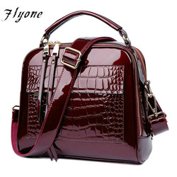 FLYONE Bag Brand Women Handbags Crocodile Leather Fashion Shopper Tote Bag Female Luxury Shoulder Bags Handbag Bolsa Feminina