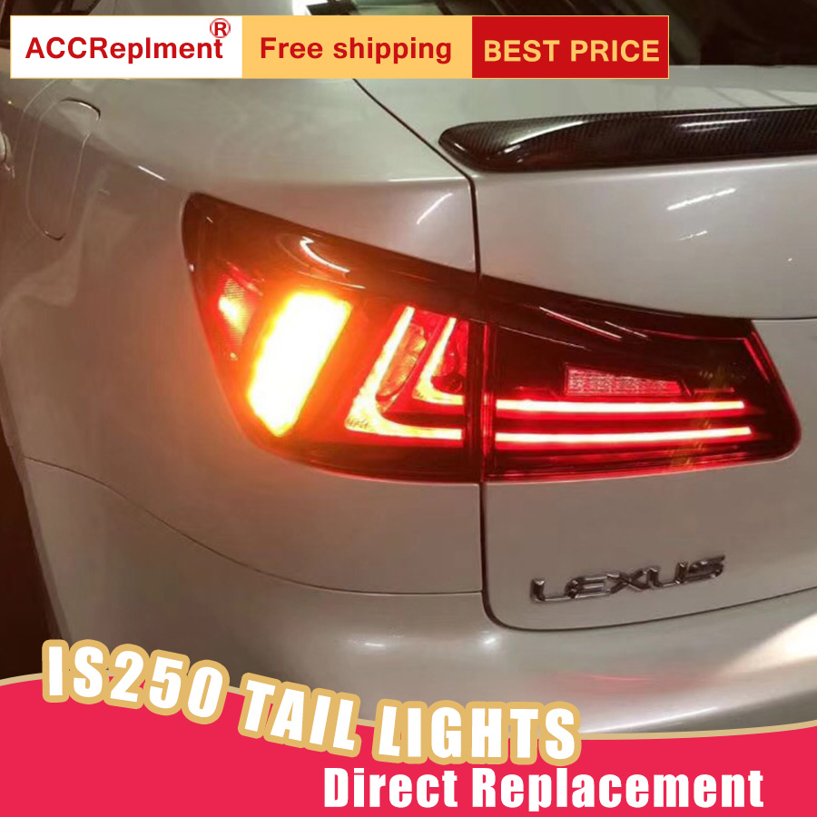 Car Styling LED Tail Lamp for Lexus IS 250 Tail Lights 2006 2012 for IS Rear