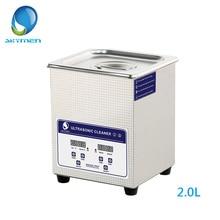 SKYMEN Digital Ultrasonic Cleaner Bath 2L 60W 40kHz for Medi
