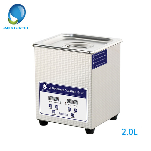 SKYMEN Digital Ultrasonic Cleaner Bath 2L 60W 40kHz for Medical and Dental Clinics, Tattoo Shops, Scientific Labs and Golf Pakistan