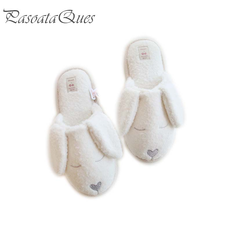 Cute Dog Animal Pattern Cotton Home Slippers Womens