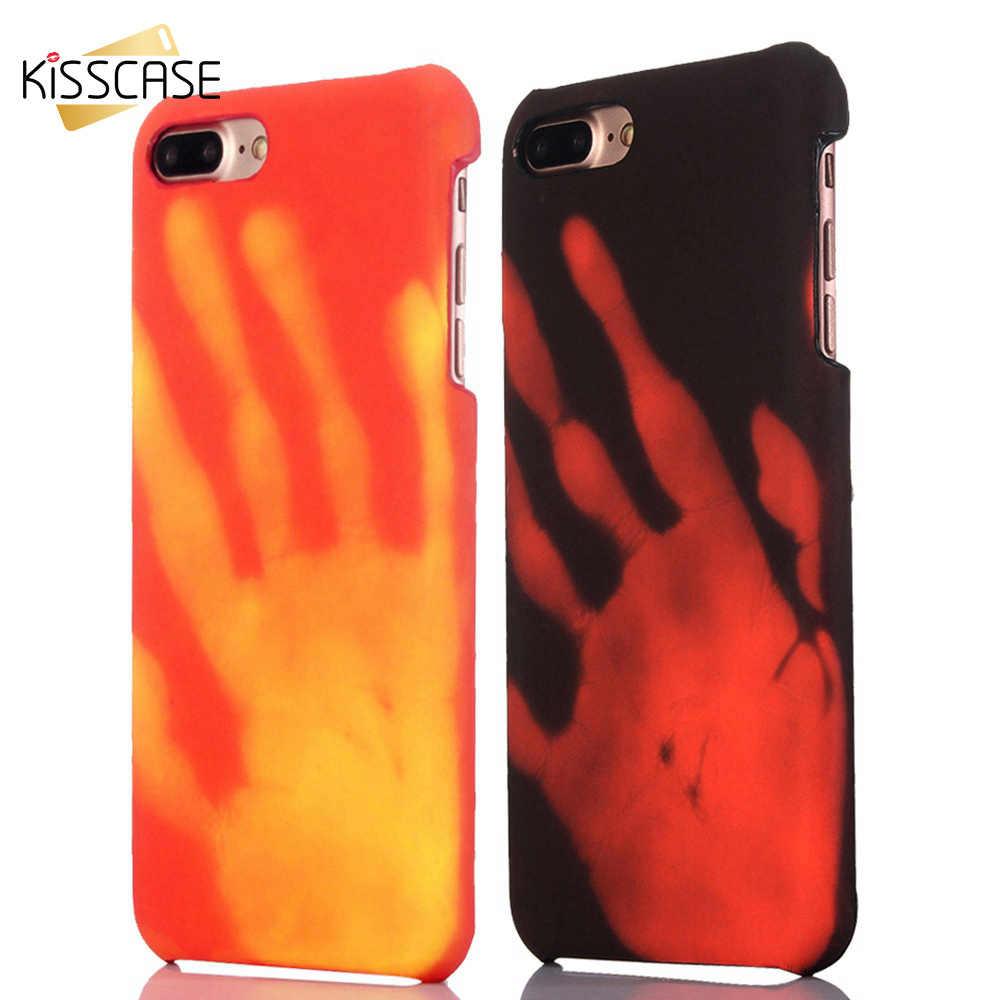 Фото KISSCASE термочувствительный чехол для телефона iPhone XR X XS MAX 7 8 6S 6 Plus Жесткий PC HOT Dis
