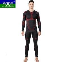 """YOOY, комплекты термобелья для катания на лыжах, кальсоны, теплые мужские лыжные футболки """"сноу"""" и штаны, быстросохнущая одежда для зимних видов спорта на открытом воздухе"""