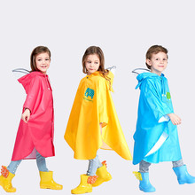 Cute Cartoon Polyester Impermeable Poncho Children Outdoor Waterproof Rain Cover Breathable Boys Girls Coat Kid Jacket