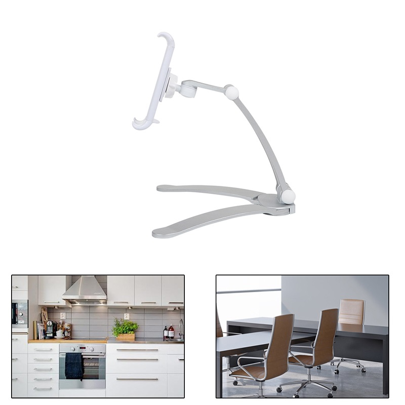 Peachy Us 14 89 32 Off Wall Desk Tablet Stands Kitchen Tablet Mount Stand Phone Holder Fit For 5 10 5 Inch Width Tablet Metal Bracket Notebook Holders In Gmtry Best Dining Table And Chair Ideas Images Gmtryco