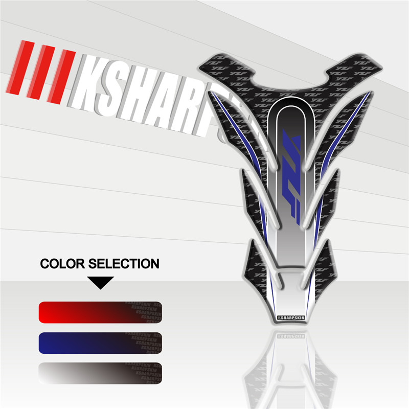 Motorcycle 3D Fuel Tank Pad Sticker Protective Decorative Decal For YAMAHA YZF Tank Pad Stickers