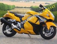 Sıcak Satış, En Suzuki Hayabusa GSXR1300 2008-2013 Için GSX-R 1300 08-13 Sarı Siyah Motosiklet Fairing Kiti (enjeksiyon)