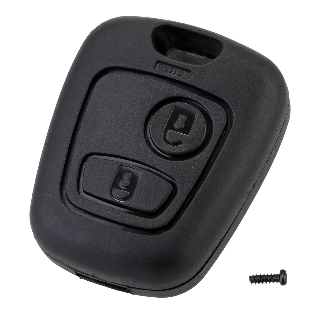 2 Button Remote Key Car Key Fob Case Replacement Shell Cover For Citroen C1 C2 C3 C4 XSARA Picasso For Peugeot 307 107 207 407 genuine leather key cover for citroen c2 c3 c4 c5 c6 xsara quatre picasso peugeot 206 307 308 407 408 rcz key chain case keybag