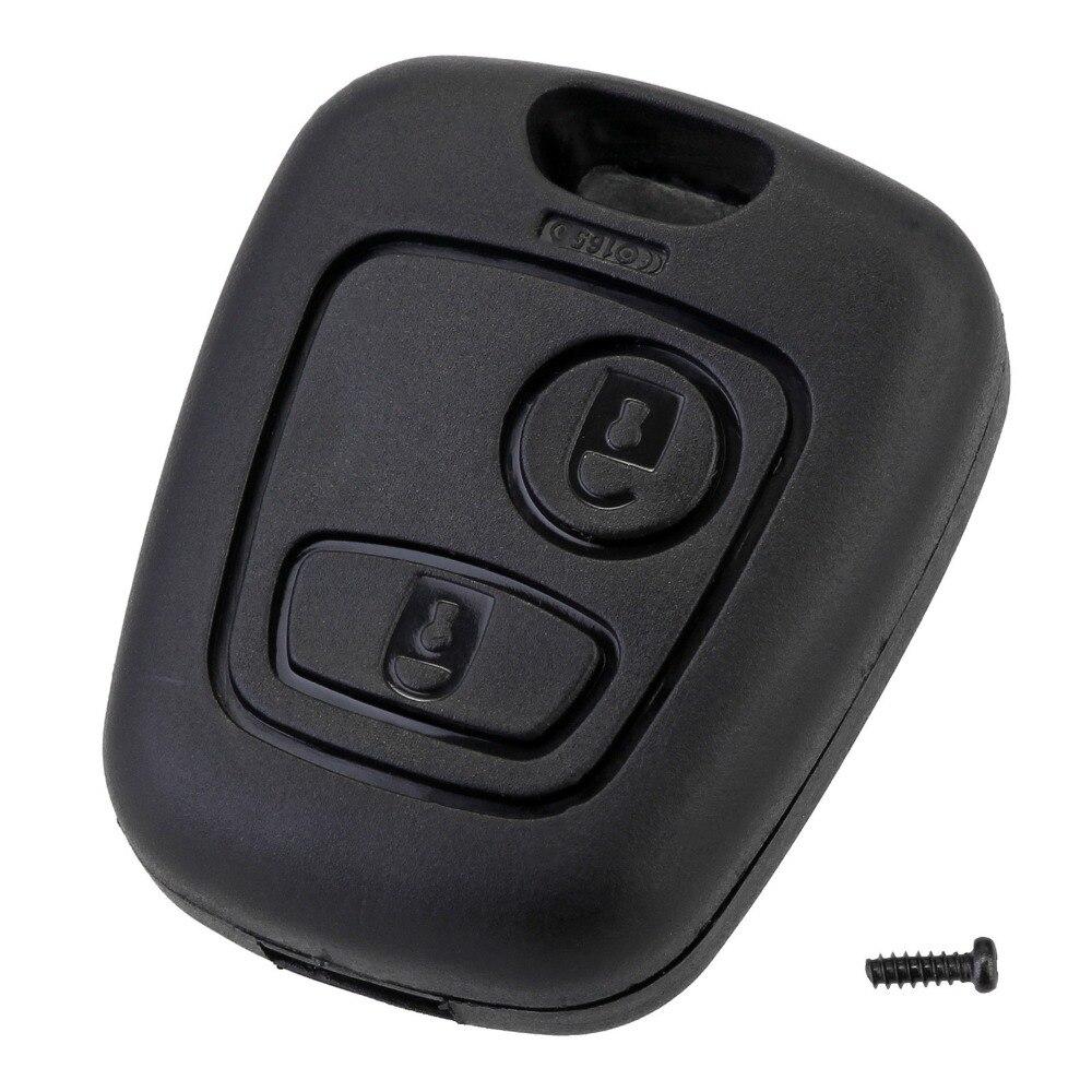 2 botão remoto chave do carro fob caso substituição escudo capa para citroen c1 c2 c3 c4 xsara picasso para peugeot 307 107 207 407
