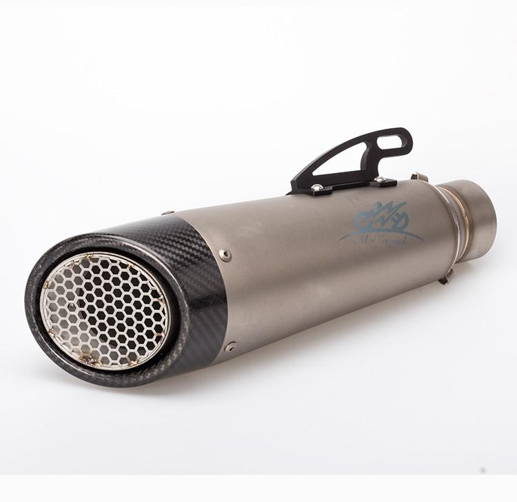 36-51mm Universel Moto Silencieux D'échappement Échappement Modifié GSXR MT07 MT09 S1000RR Pour NINJA300 ZX6R Z800 Z1000 cbr1000