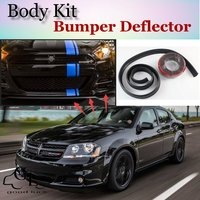 Bumper Lip Deflector Lips For Dodge Avenger / GTS Front Spoiler Skirt For TopGear Friends to Tuning Car View / Body Kit / Strip