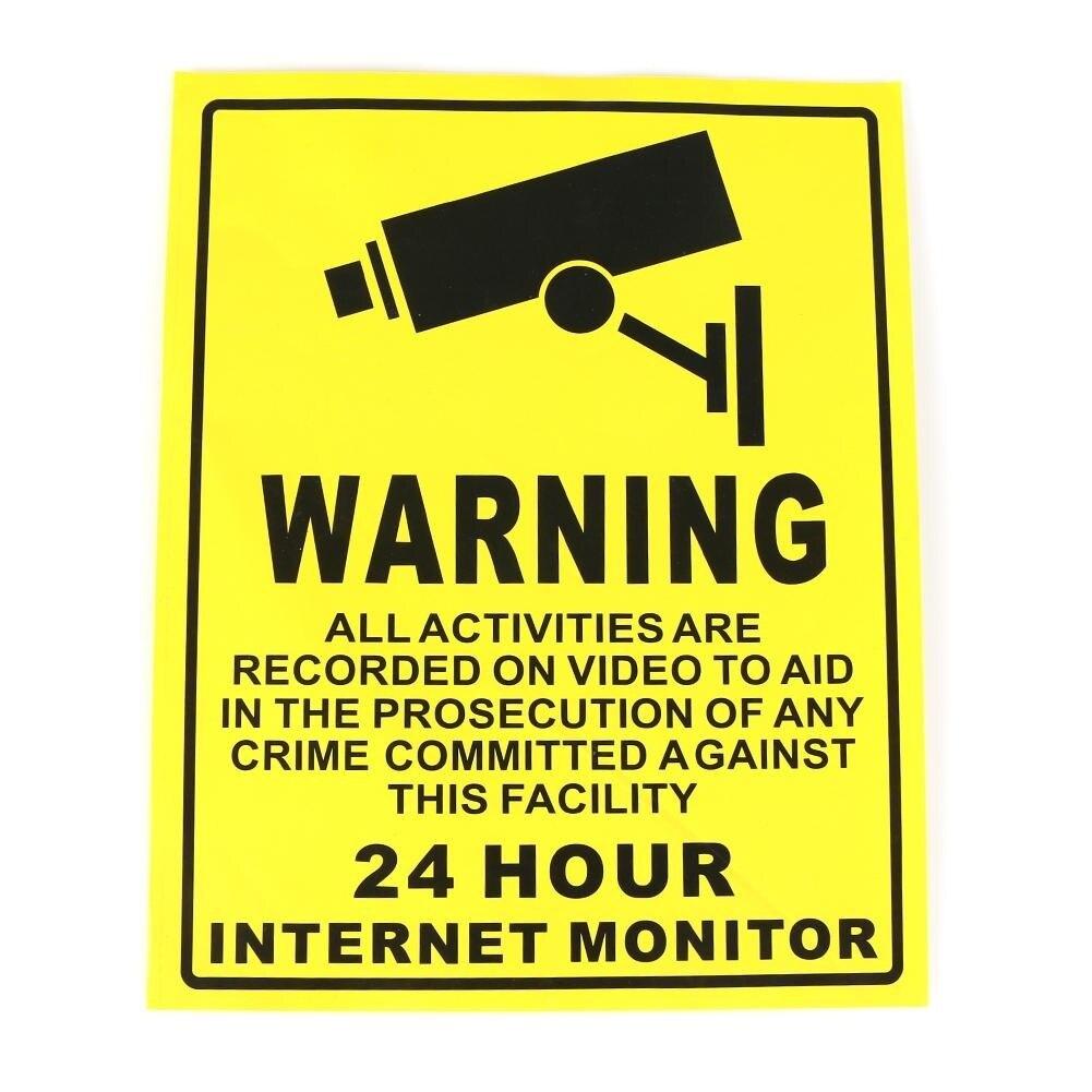 Видеонаблюдения Камера Системы Предупреждение знак Стикеры наклейка наблюдения 200 мм x 250 мм